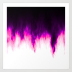 Pink and Purple Flames Art Print
