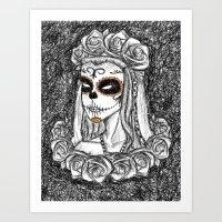 La Catrina v2 Art Print