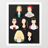 cosima Art Prints featuring Orphan Black Clone Club by Loverly Prints