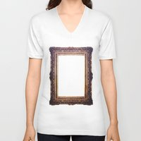 frame V-neck T-shirts featuring Frame by GetNaked