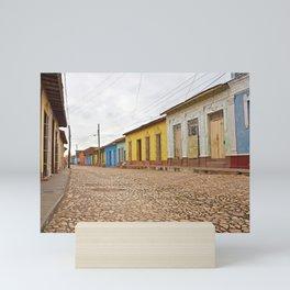 Streets of Trinidad Cuba Cobblestone Stucco Old City Colorful Latin America Caribbean Island Tropica Mini Art Print