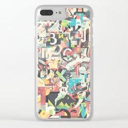 Cyrillic alphabet Clear iPhone Case