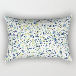 Terrazo in Blue, green and citron Rectangular Pillow