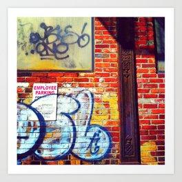 drawn to alleys Art Print