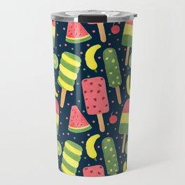 Fancy Popsicle Pattern Travel Mug