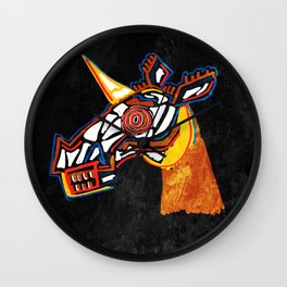 Basquiat Skull Unicorn Wall Clock