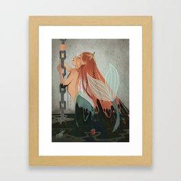 MERMAY 2018 Pollution Mermaid Framed Art Print
