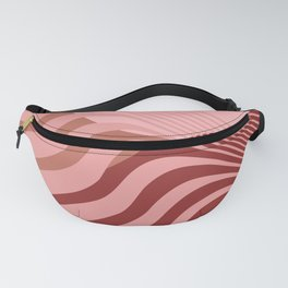 Beyond The Fog - Bronze Maroon Fanny Pack