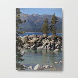 Two Shades of Blue at Lake Tahoe Metal Print