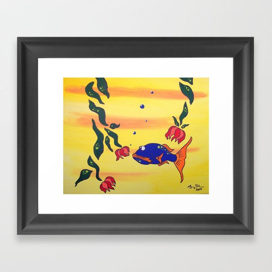 Contact Framed Art Print