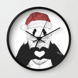 Santa panda Wall Clock