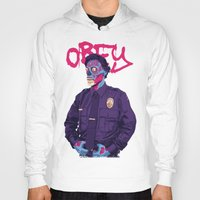obey Hoodies featuring OBEY by Mike Wrobel