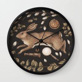 Rabbit's Garden Collection Wall Clock