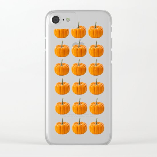 pumpkin pattern  Clear iPhone Case