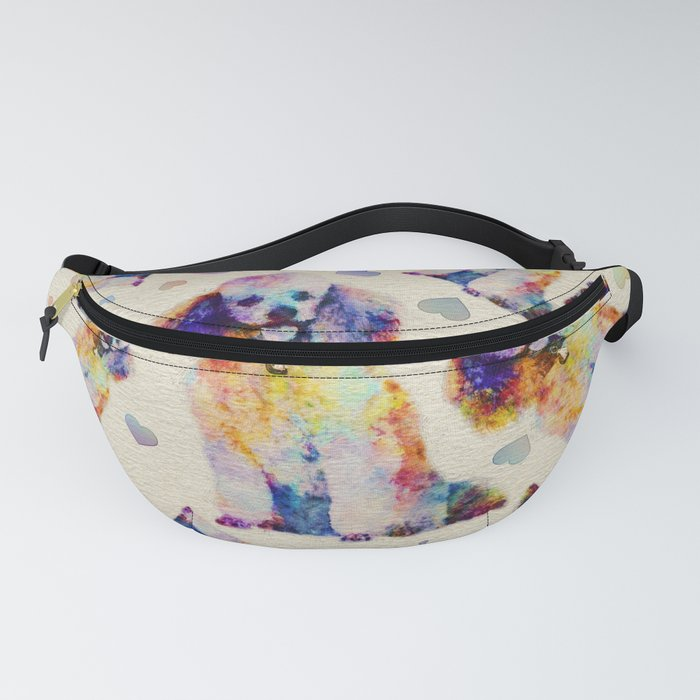 Color splash poodle dog on canvas Fanny Pack