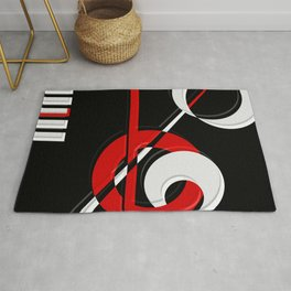 Black and white meets red version 28 Rug