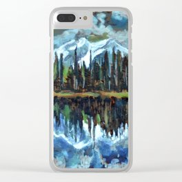 Sprague Lake, Rocky Mountain National Park Clear iPhone Case