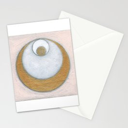 Gold Pink Moon Stationery Cards