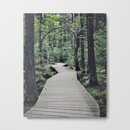 Boardwalk with natural arch Metal Print