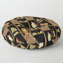 Chicken Coop - chickens, farm, illustration, birds Floor Pillow