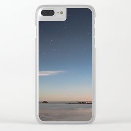 Starlit Shores Clear iPhone Case