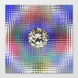 Diamond in Multi-Coulors Canvas Print