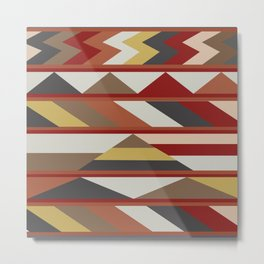 American Native Pattern No. 264 Metal Print
