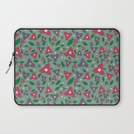 Magenta and Violet Bugambilia Laptop Sleeve