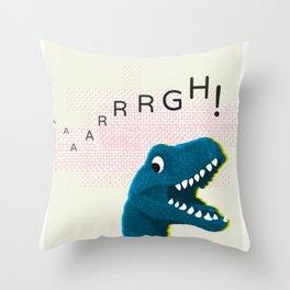 Dinosaur Run! Throw Pillow