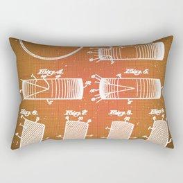 Hockey Puck Patent Blueprint Drawing Sepia Rectangular Pillow