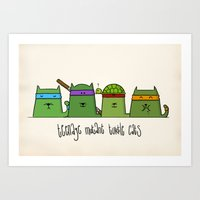 Turtlecats Art Print