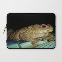 European Common Toad by Poolside At Night Laptop Sleeve