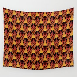 SCORCH pattern [BLACK] Wall Tapestry