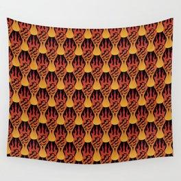 SCORCH pattern [BLACK] Wall Tapestry
