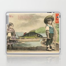 The April Fish - Vintage / Antique French Post Card - Piosson D'Avril - April Fools Day Laptop & iPad Skin