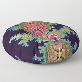 Amazing patterns in orbs and dragon spirals Floor Pillow