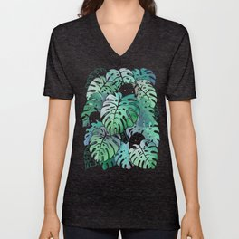 Monstera Monsters Unisex V-Neck