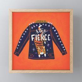 Stay Fierce Tiger Jacket Framed Mini Art Print