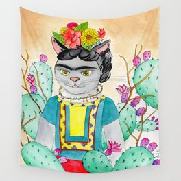 Kitty Kahlo Wall Tapestry