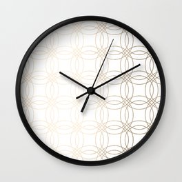 Simply Vintage Link in White Gold Sands on White Wall Clock