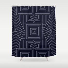 Mudcloth Indigo Shower Curtain