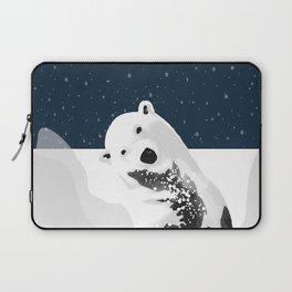 Unique Polar Bear Scene Laptop Sleeve