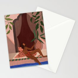 Holiday with my Leapord Stationery Cards