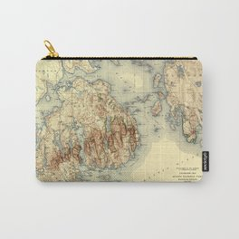 Map Of Acadia National Park 1931 Carry-All Pouch