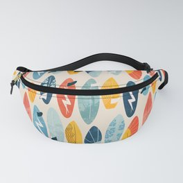 Surfboard white  Fanny Pack