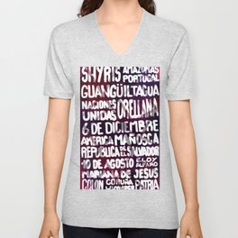 The streets at Quito Unisex V-Neck