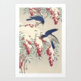 Bird Woodblock Print, Ohara Koson Art Print