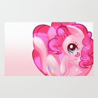 pie Area & Throw Rugs featuring Pinkie Pie by mmishee