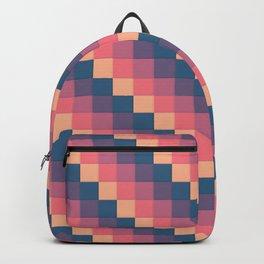 Descending Square Pattern Backpack