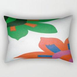 Bold Flowers Rectangular Pillow